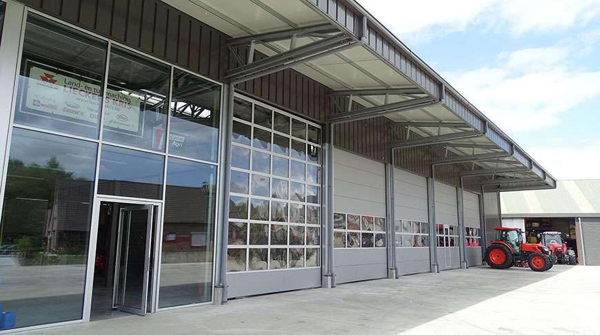 showroom industrial steel building