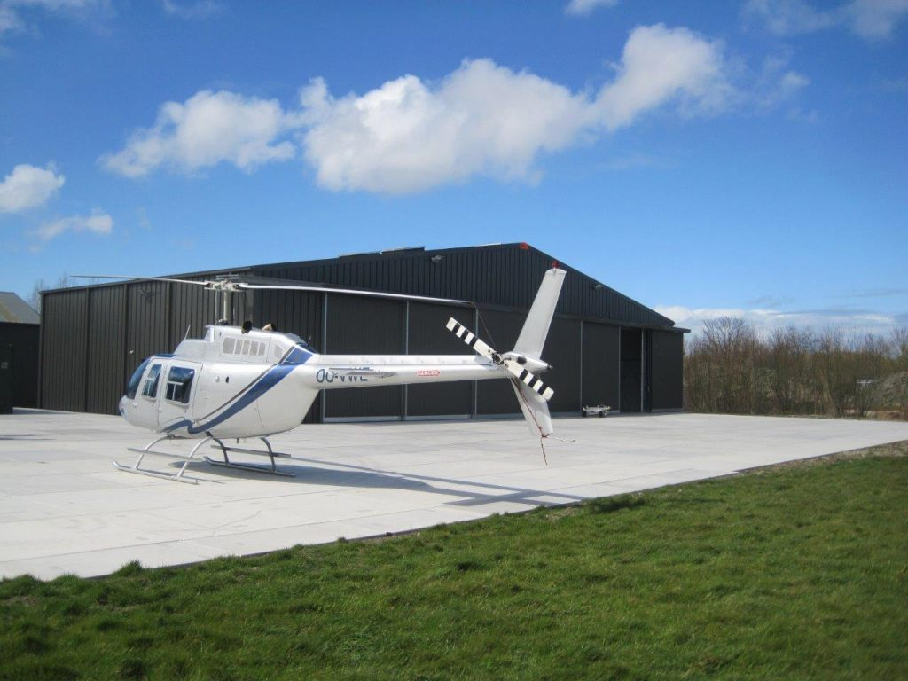 helicopter hangar free quote