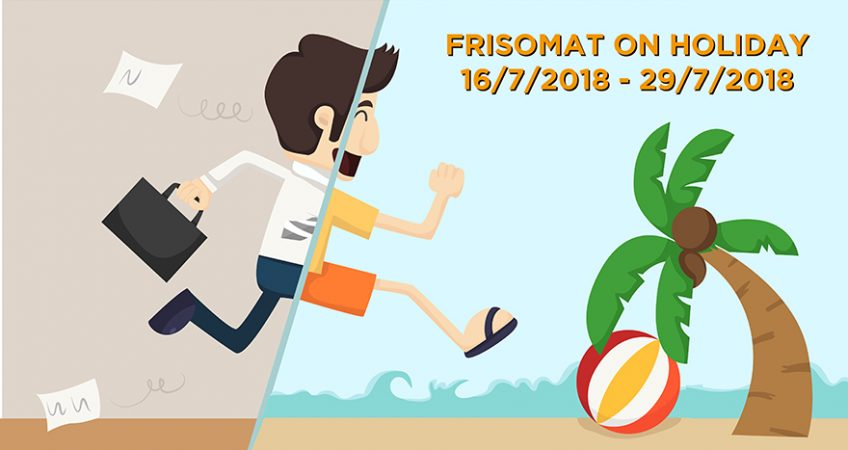 Frisomat Headquarters will be closed for the annual construction leave